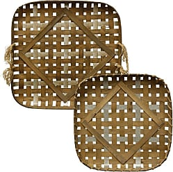 StyleCraft Woven Strippings Basket Wall Accent - WI522401DS