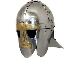 Urban Designs Imported Antique Replica 6th Century Anglo-Saxon Sutton Hoo Ceremonial Helmet, Silver