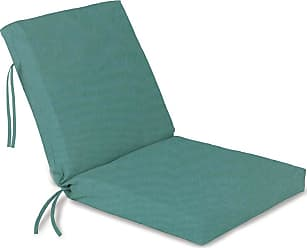 Jordan Manufacturing Company Hinged Outdoor Classic Chair Cushion With Ties