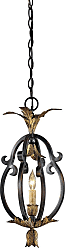 Metropolitan Montparnasse 9.25 Mini Pendant in French Black/Gold Leaf