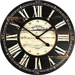 Zentique 32 in. Round Wooden Wall Clock - PC010