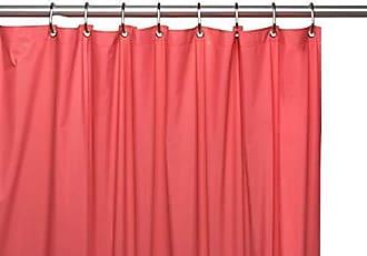 Ben&Jonah Ben & Jonah 8 Gauge Hotel Vinyl Shower Curtain Liner Metal Grommets in Rose, Size 72X72 Splash Collection