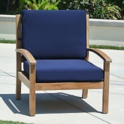 Willow Creek Designs Outdoor Willow Creek Designs Huntington Teak Club Chair with Sunbrella Cushion Canvas Heather Beige - WC-9-5422
