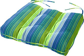 Cushion Source 24.5 x 20 in. Striped Sunbrella Chair Cushion Foster Surfside - 5CB8U-56049