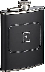 Visol Products Marcel Liquor Flask with Engraved Initial, 6 oz (E)