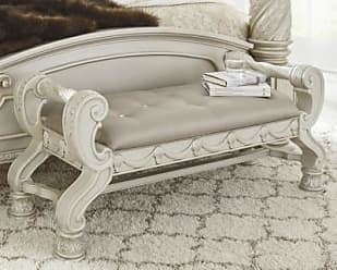 Ashley Furniture Cassimore Upholstered Bench, Silver