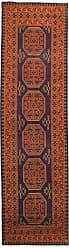 Nain Trading Afghan Akhche Baghlan Rug 94x26 Runner Dark Grey/Brown (Afghanistan, Hand-Knotted, Wool)