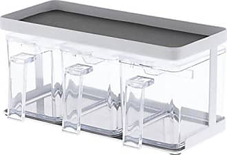 Yamazaki Home 3343 Tower Salt and Sugar Rack (3 Containers) WH Space Saving One Size White
