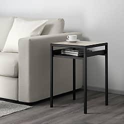 IKEA NYBODA, Beistelltisch/wendbare Platte, Schwarz/beige