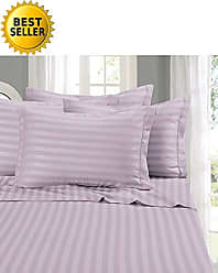 Elegant Comfort Wrinkle & Fade Resistant 1500 Thread Count - Damask Stripes Egyptian Quality Luxurious Silky Soft 4pc Sheet Set, Up to 16 Deep Pocket, Full, Lilac