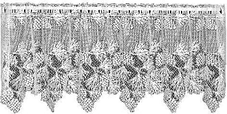 Heritage Lace Woodland 60-Inch Wide by 30-Inch Drop Tier, Ecru