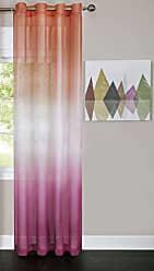 Ben&Jonah Ben & Jonah PrimeHome Collection Rainbow-Single Grommet Window Curtain Panel-52x84, Pink