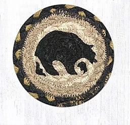 Earth Rugs Coaster Set CS-043B-4 Black/Gold