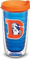Trevis Tervis 1061474 NFL Denver Broncos Legacy Tumbler with Emblem and Orange Lid 16oz, Blue