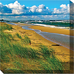 West of the Wind Windy Beach Canvas Outdoor Art - 76006-24