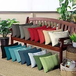 Belham Living Acrylic 20 x 13 in. Outdoor Rectangle Lumbar Pillow - Set of 2 Graphite Gradated Stripe - AH1F121B-D9H2