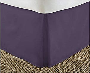 iEnjoy Home IEH-BEDSKIRT-CALKING-PURPLE Home Collection Pleated Bed Skirt, California King, Purple