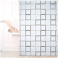 60x240 cm 240 x 60 x 5 cm Montaggio a Soffitto Relaxdays Tenda a Rullo Square Impermeabile PVC Vasca /& Doccia