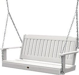 highwood Highwood Lehigh 4-foot Eco-friendly Synthetic Wood Porch Swing (White)