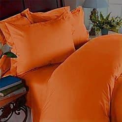 Elegant Comfort 1500 Thread Count Wrinkle Resistant Egyptian Quality 3-Piece Duvet Cover Set, Full/Queen, Elite Orange