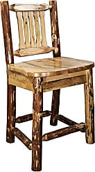 Montana Woodworks MWGCBSWNR24 Glacier Country Collection Counter Height Barstool with Back