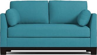 Apt2B Avalon Apartment Size Sleeper Sofa - Leg Finish: Espresso - Sleeper Option: Deluxe Innerspring Mattress - Teal Performance Fabric - Sold by Apt2B