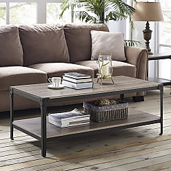 Carbon Loft Witten Angle Iron and Driftwood Coffee Table (Driftwood)