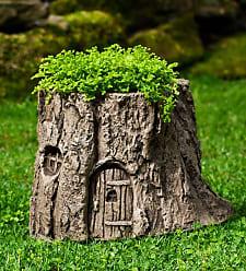 Campania International USA-Made Cast Stone Handcrafted Fairy Garden Planter
