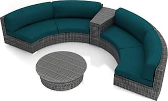 Harmonia Living Outdoor Harmonia Living District 4 Piece Curved Patio Sectional Set - HL-DIS-TS-4CSEC-PC