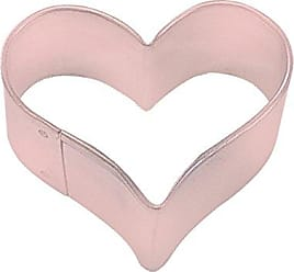 CybrTrayd R&M Heart 1.75 Cookie Cutter Pink With Brightly Colored, Durable, Baked-on Polyresin Finish