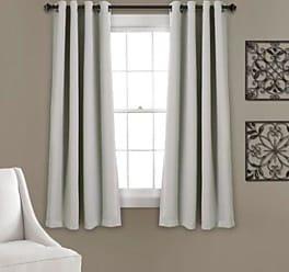 Lush Décor Insulated Curtain Panel Pair - Light Grey - Size:52x63
