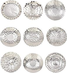 Deco 79 90871 Stainless Steel Wall Platters (Set of 9) 12 Silver