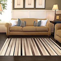 Home City Inc. Superior Modern Corona Collection Area Rug, 8mm Pile Height with Jute Backing, Multicolored Stripe Pattern, Anti-Static, Water-Repellent Rugs - Beige, 5 x 8 Rug
