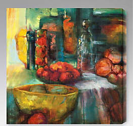 Gallery Direct Red and Green Fruit I Indoor/Outdoor Canvas Print by Sylvia Angeli - NE37382