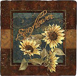 Thirstystone Ambiance Travertine Coaster, Multicolored, Sunflower Farm