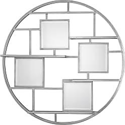 Uttermost Zaria Mirrored Round Wall Shelf