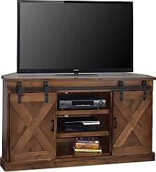 Legends Furniture 56 Aged Whiskey Farmhouse Corner TV Console