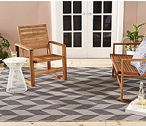 Home Dynamix Nicole Miller Patio Country Calla Indoor/Outdoor Area Rug 52x72, Modern Geometric Black/Gray