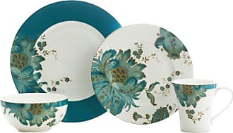 222 Fifth Eliza Teal 16 Piece Dinnerware Set - 1014TL803L1G97