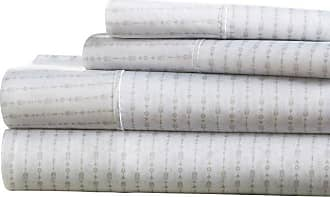 Noble Linens Premium Ultra Soft Beaded Arrows Pattern Sheet Set by Noble Linens Light Gray, Size: Queen - NL-4PC-BEA-Q-LG