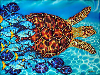 Louis Leonard Art Hawksbill and Jacks by Jean-Baptiste Canvas Wall Art - JEB003-18X24