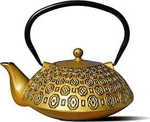 Old Dutch International 1066GB Gold/Black Cast IronRitchi Teapot, 40 Oz. Ritchi-37 OZ, 37 oz