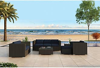 Harmonia Living Outdoor Harmonia Living Urbana Wicker 5 Piece Patio Conversation Set - HL-URBN-CB-5SS-IN