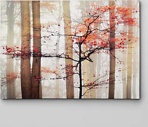 WEXFORD HOME Orange Awakening Gallery-wrapped Canvas Wall Art (32x48)