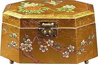 Oriental Furniture Antoinette Jewelry Box - Gold