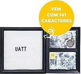 Uatt? Mural Letreiro para 2 Fotos 10x15cm - Preto