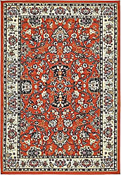 Unique Loom Kashan Collection Traditional Floral Overall Pattern with Border Terracotta Area Rug (4 x 6)
