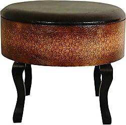 Oriental Furniture Olde-Worlde Vintage Ottoman/Stool