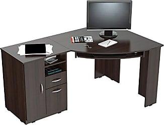 Inval America America ET-3115 L-Shaped Corner Desk, Espresso