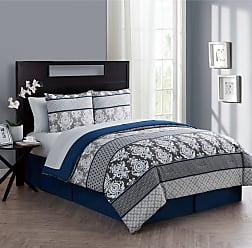 VCNY Beckham 8 Piece Bed in a Bag by VCNY, Size: Queen - BHA-BIB-QUEN-IN-BL